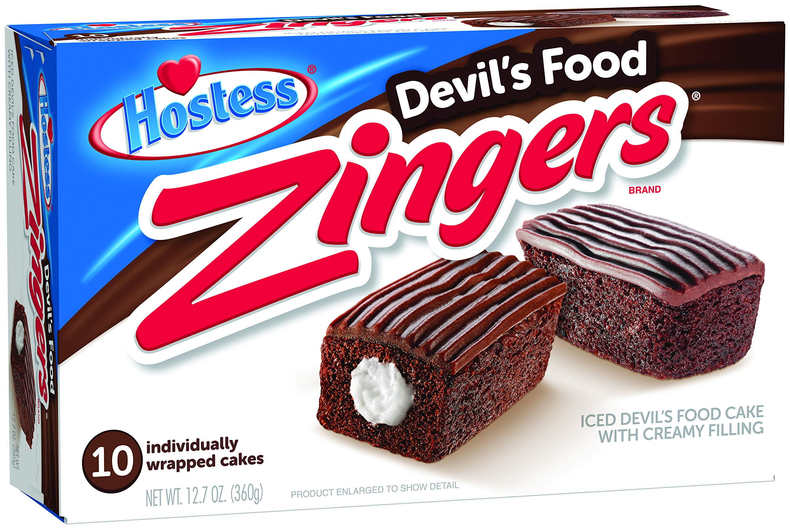 Hostess Zingers, Devil's Food, 10 Count (Pack of 6) by Hostess