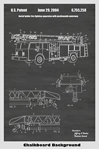 amazon com fire truck poster patent print art poster choose from Fire Engine Diagram for Students image unavailable image not available for color fire truck