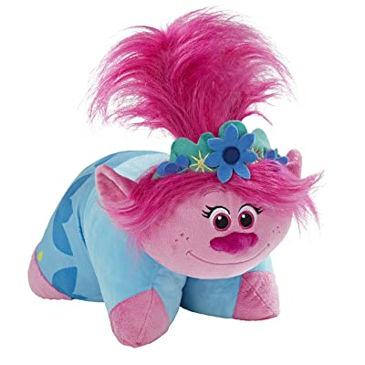 Pillow Pets DreamWorks Poppy Stuffed Animal – Trolls World Tour Plush Toy: Home & Kitchen