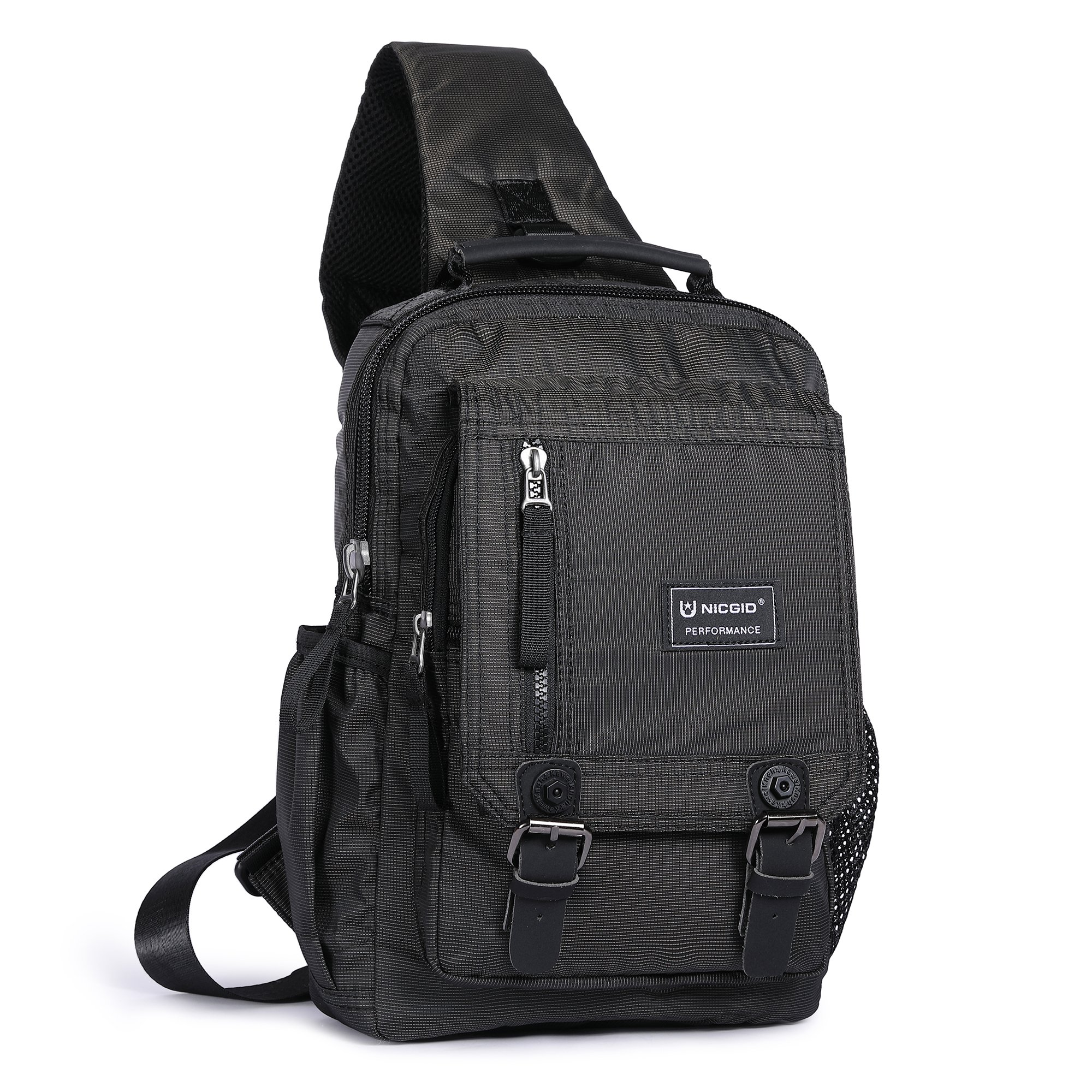 Sling Bag Cross Body Shoulder Backpack, Messenger Shoulder Bag Travel Chest Bag Outdoor Sport Pack Men Women (Black)