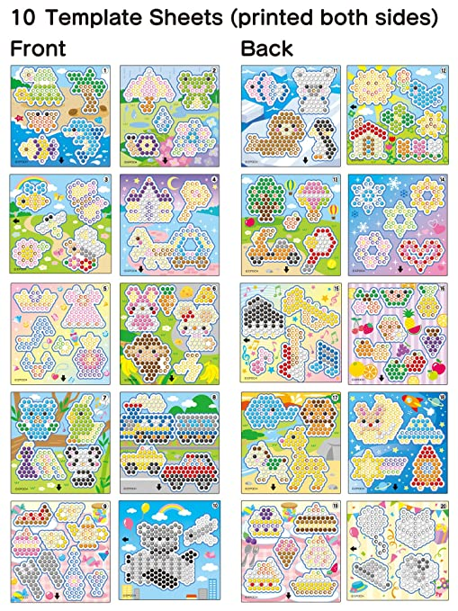 Amazoncom Aquabeads Designer Template Sheet Toys Games - Aquabeads templates