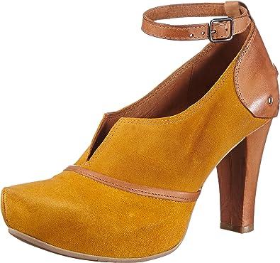 Virus Moda 930409 - Zapatos de tacón de Cuero para Mujer, Color Amarillo, Talla 40: Amazon.es: Zapatos y complementos