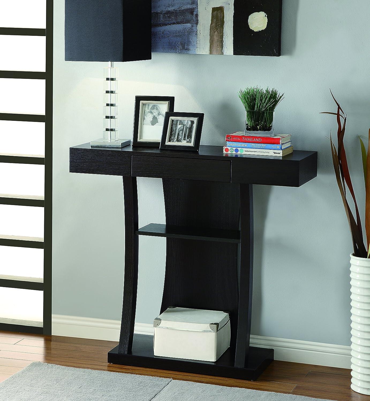 Amazon.com: Coaster Contemporary Cappuccino T-Shaped Console Table ...