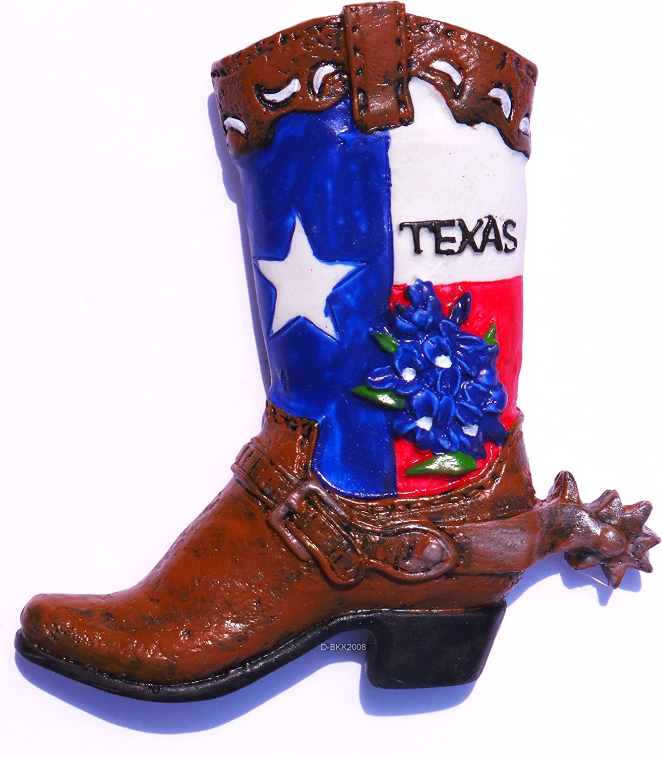 Texas Cowboy Boot United States, Souvenir, High Quality Resin 3d Fridge Magnet