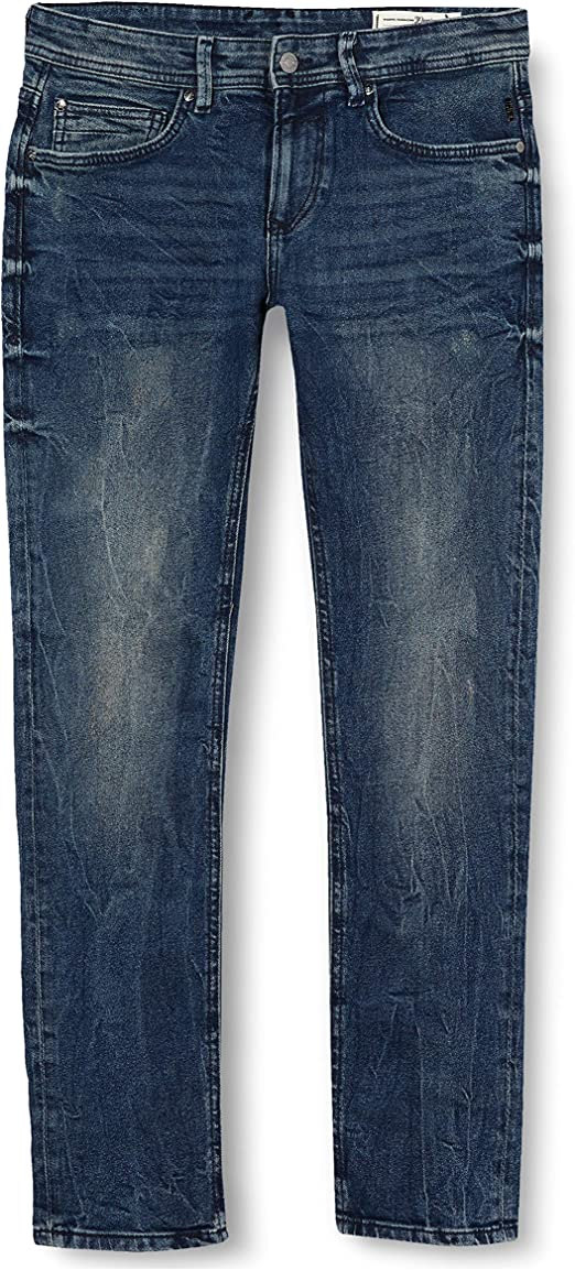 TALLA (Talla del fabricante: 28). Tom Tailor Denim Super Slim Piers Blue Denim Vaqueros Skinny para Hombre