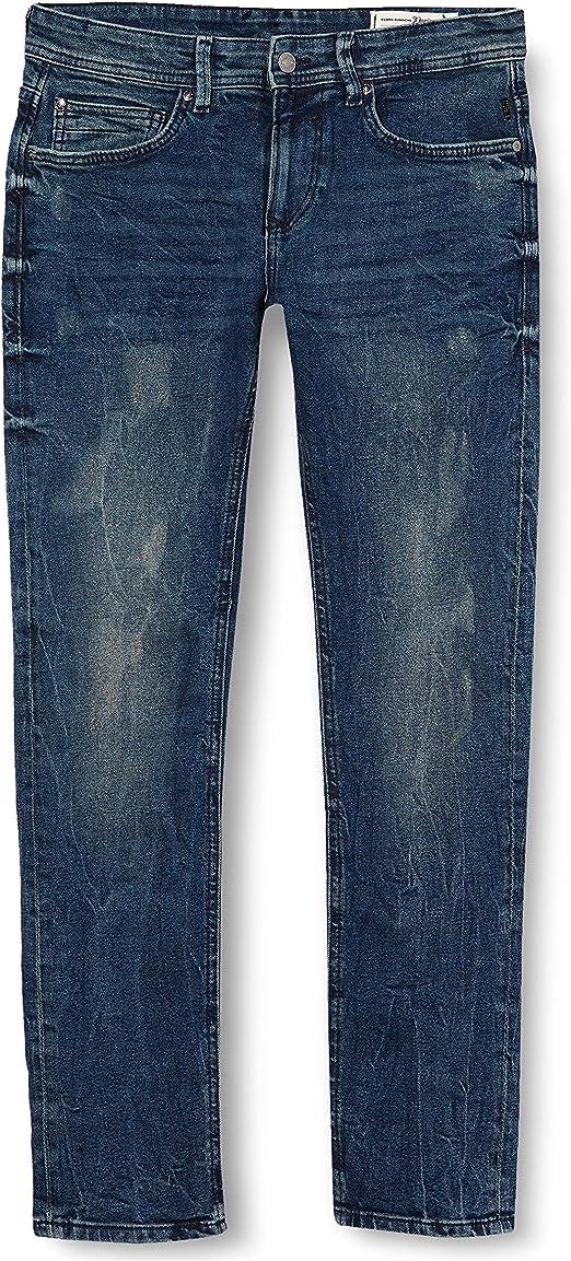 TALLA (Talla del fabricante: 28). Tom Tailor Denim Super Slim Piers Blue Denim Vaqueros Skinny para Hombre