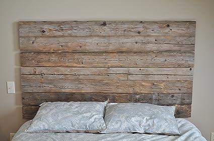 Amazoncom East Coast Rustic Reclaimed Wood Headboard Diy Wall