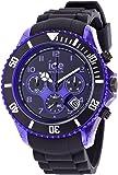 ICE-Watch - Montre Mixte - Quartz Analogique - Ice-Chrono Electrik - Black - Purple - Big Big - Cadran Noir - Bracelet Silicone Noir - CH.KPE.BB.S.12