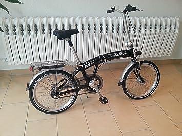 MIFA MKL800-04 - Bicicleta plegable, color negro, talla 20 Zoll