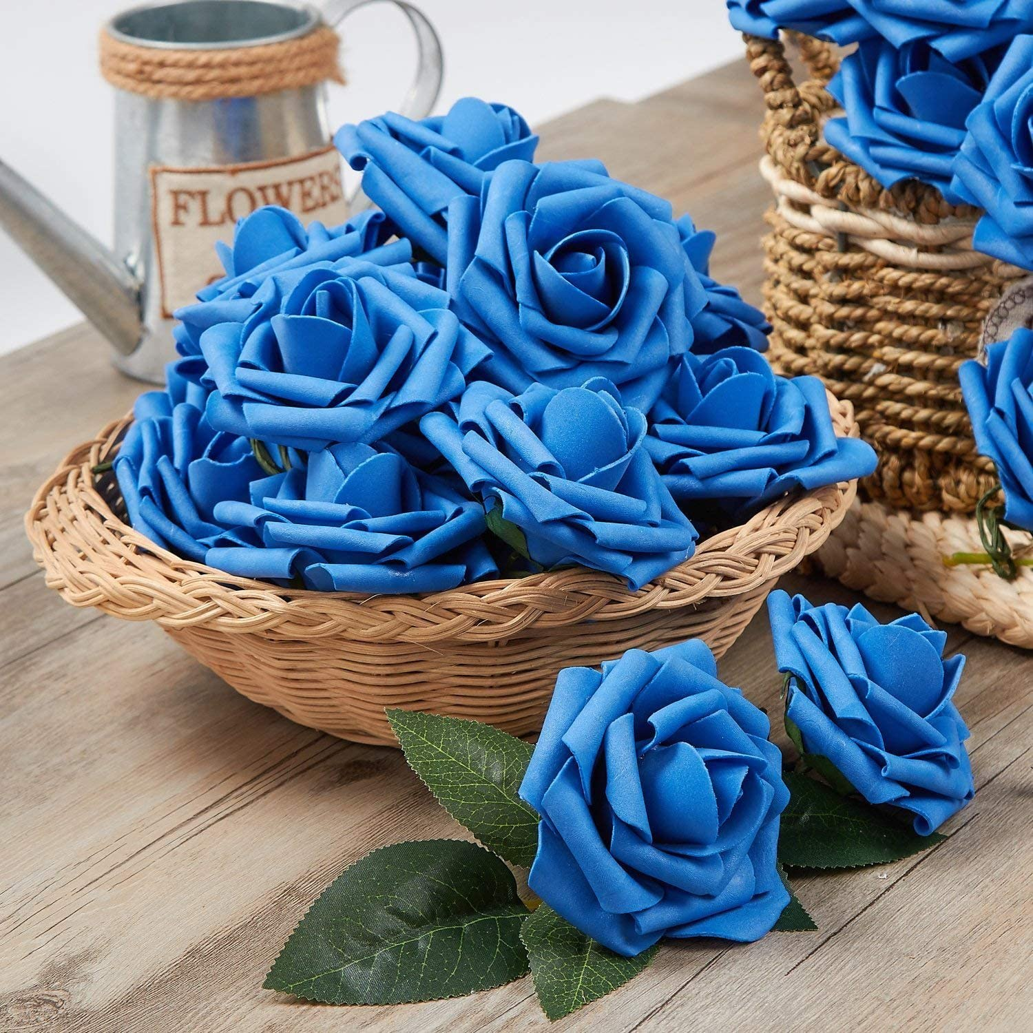 Real Touch Foam Roses for DIY Bouquets Wedding Party Baby Shower Home Decor Black N/&T NIETING Artificial Flower Rose