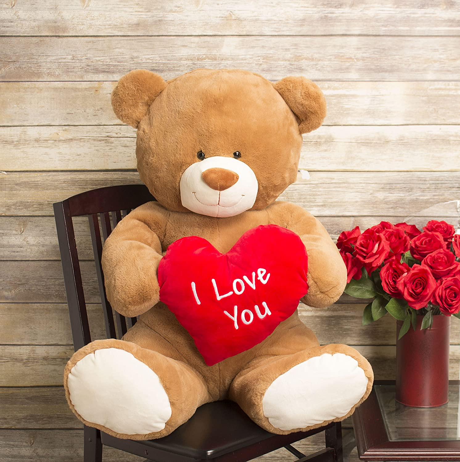Amazon valentines day jumbo 35 plush i love you teddy bear amazon valentines day jumbo 35 plush i love you teddy bear gitzy toys games altavistaventures Images