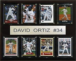 MLB David Ortiz Boston Red Sox 8 Card Plaque