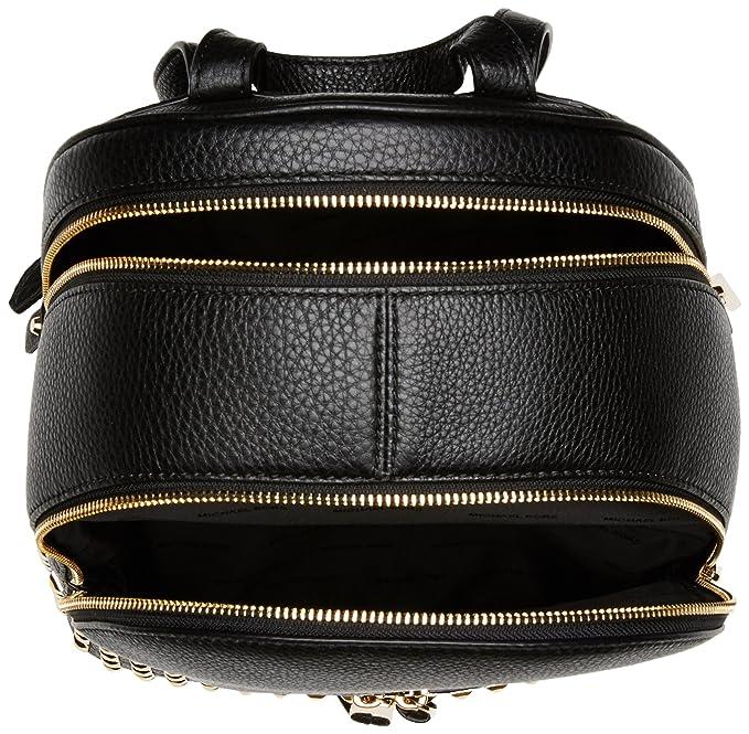 Michael Kors Rhea Zip, Bolso mochila para Mujer, Negro (Black), 13x30x26 centimeters (W x H x L): Amazon.es: Zapatos y complementos