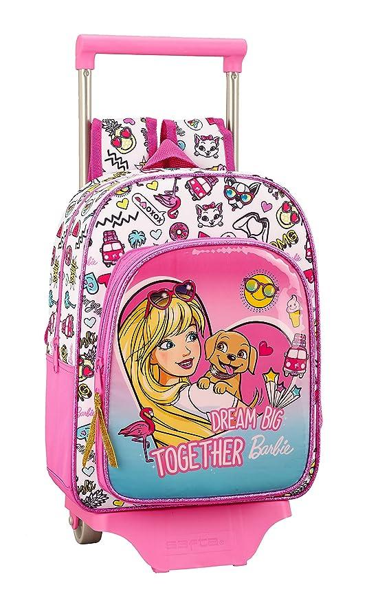 Barbie Celebration Oficial Mochila Infantil Con Carro Safta 705