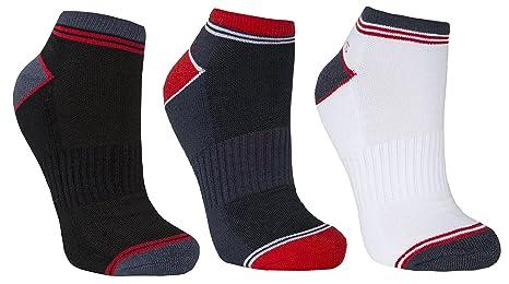 Trespass Lapse – Calcetines de Deporte Hombre, Hombre, Color Blanc/Gris/Noir
