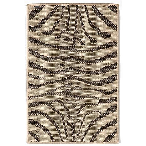 Amazon Com Liora Manne Ter23171267 Terrace Zebra Indoor Outdoor Rug