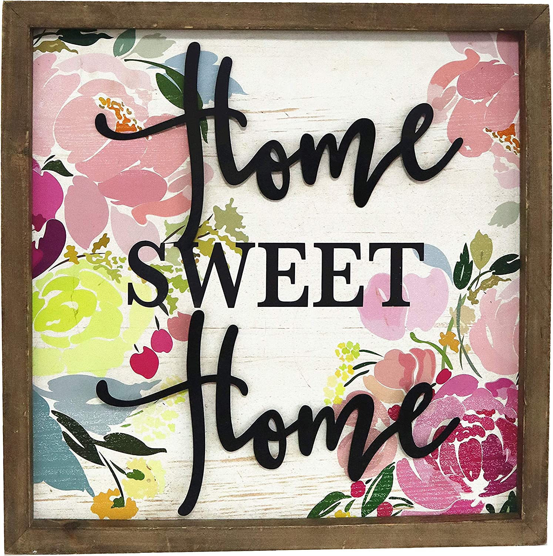 Paris Loft Wood Framed Home Sweet Home Wall Sign Plaque