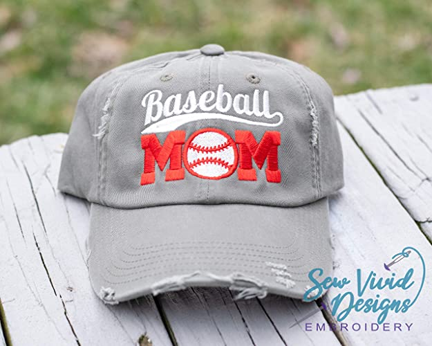 63e90bf72b1 Amazon.com: Baseball Mom Distressed High Ponytail Baseball or Trucker Cap:  Handmade