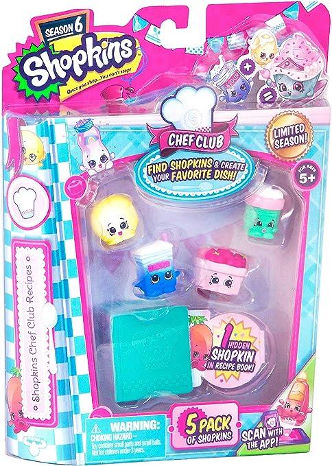 Amazon Com Paquete De 5 Juegos Shopkins Chef Club Toys Games