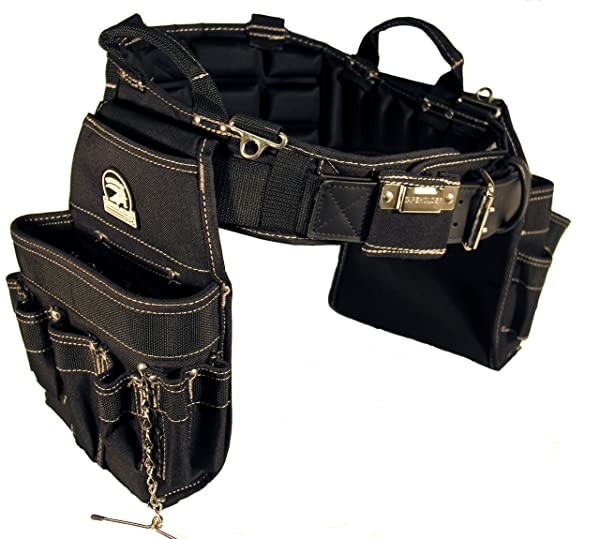 Gatorback B240 Electrician's Combo with Pro-Comfort Back Support Belt. Heavy Duty Ventilated Work Belt (Large 36-40 inches) (Color: Black, Tamaño: Large - 36-40 Waist)