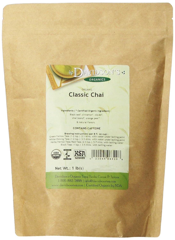 Davidson's Tea Bulk, Classic Chai, 16-Ounce Bag