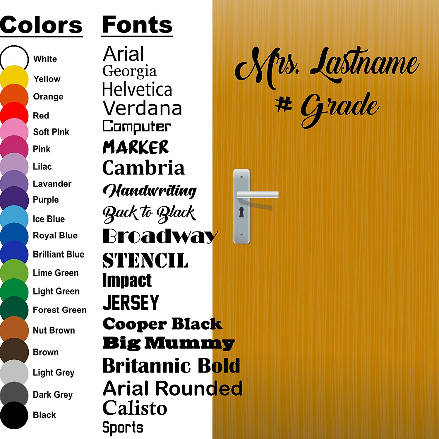 Custom Personalized Name Font Text Sign Car Truck Laptop Vinyl Decal Sticker