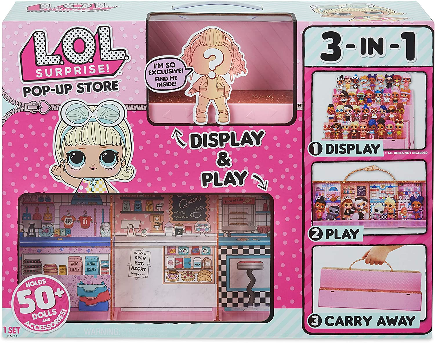 LOL Surprise Pop-Up Store Play Set 3 in 1 Carrying Case Exclusive Doll-NEW