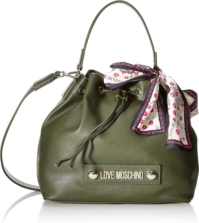 Love Moschino Jc4032pp18lc0850, Borsa a Secchiello Donna, Verde (Verde), 25x9x28 cm (W x H x L)