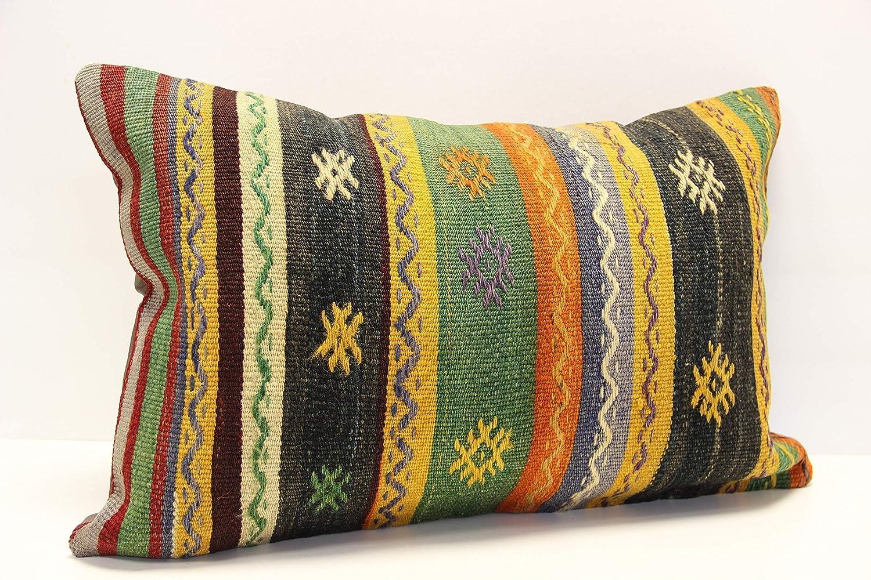 16x24 pillow rug pillow pillow throw pillow lumbar pillow vintage pillow sofa pillow boho pillow kilim pillow cover Turkish handmade pillow