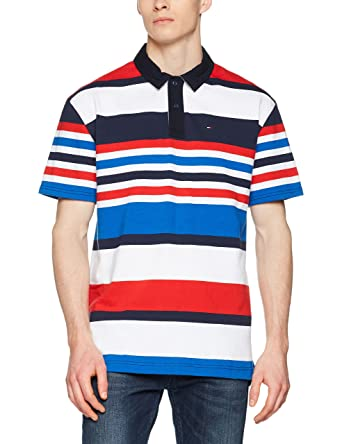 Tommy Hilfiger Stripe Short Sleeve Rugby sudadera para Hombre ...