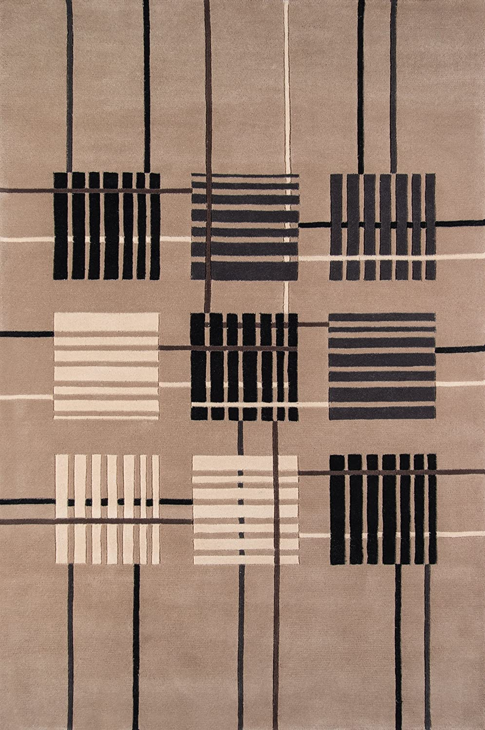 100/% Wool Hand Carved /& Tufted Contemporary Area Rug 2 x 3 Sand Momeni Rugs NEWWANW-48SND2030 New Wave Collection