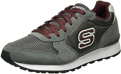 Skechers Mens Og 85 - Early Grab Sneaker Gray/Burgundy Size 10. 5