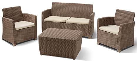 ALLIBERT 212405 Corona Salon de Jardin en Plastique avec 2 fauteuils ...