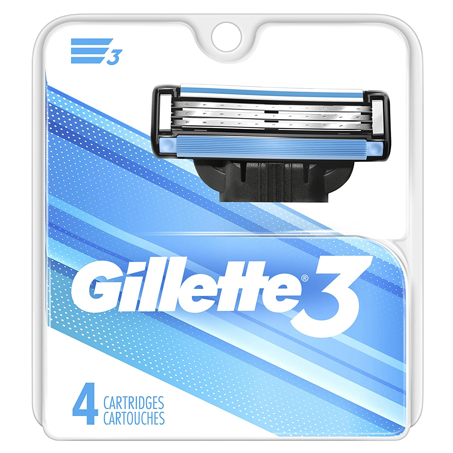 Gillette 3 Men's Razor Blade Refills, 4 Count