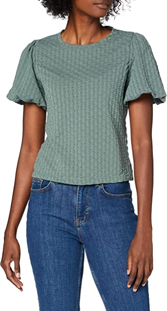 Only Onlemma L//S Puff Top Jrs Camiseta sin Mangas para Mujer