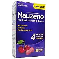 Nauzene Upset Stomach & Nausea Relief Chewable Tablets Wild Cherry Flavor - 42 ct