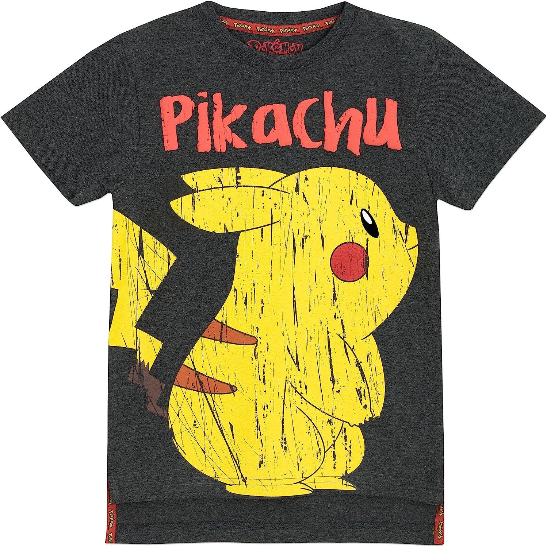 Pok/émon Pokemon Maglietta a Maniche Corta Ragazzi Pikachu