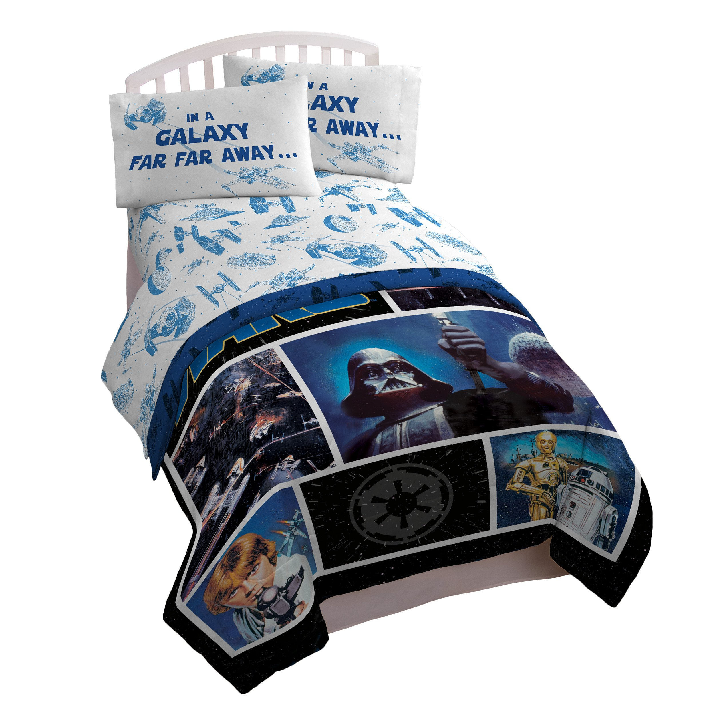 Star Wars Classic Logo 3 Piece Twin Sheet Set