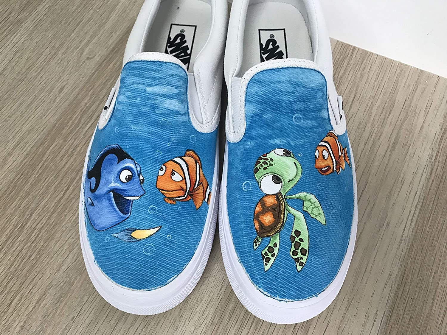 hand painted vans chaussures
