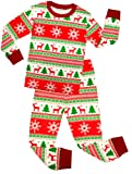 Amazon Price History for:shelry Girls Santa Christmas Pajamas For Boys Cotton Clothes Kids PJS Toddler Sleepwear Pants Set