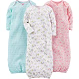 Simple Joys by Carter's Girls' 3-Pack Cotton Sleeper Gown