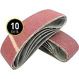 10 x bandes abrasives 75 x 533 mm bande abrasive pour ponceuse à bande Grain 80