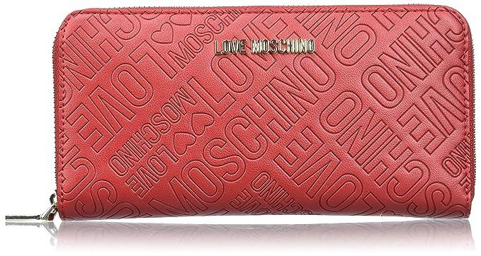 Love Moschino - Portafogli Embossed Pu Rosso, Carteras Mujer, Rot (Red),