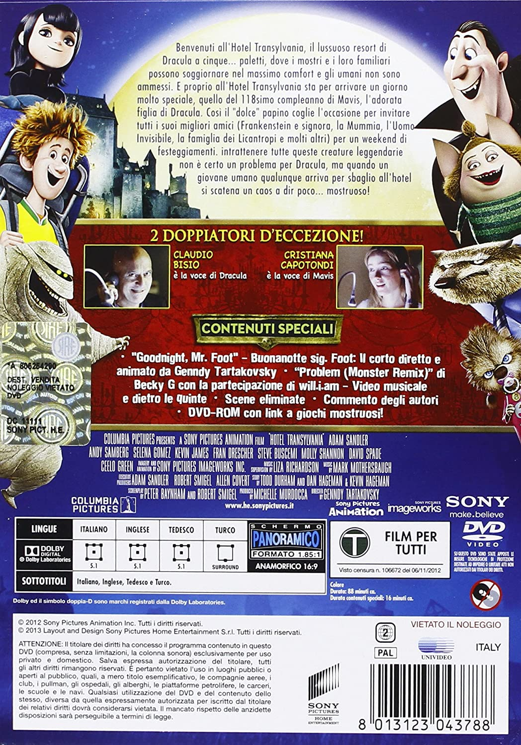 Hotel Transylvania [Italia] [DVD]: Amazon.es: Mark Mothersbaugh, Genndy Tartakovsky: Cine y Series TV