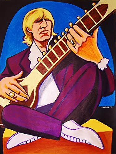 Brian Jones Playing Sitar by John Froehlich