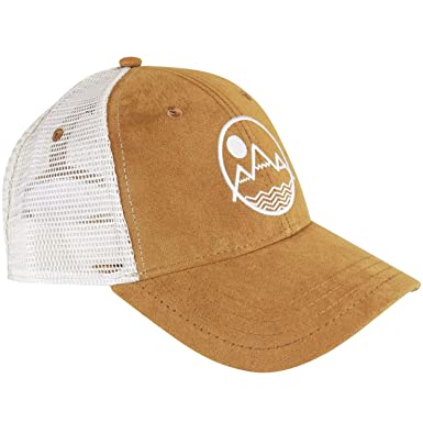 Amazon.com  Coloradical Vibe Mountain Suede Trucker Hat (Tan)  Clothing 09e8dd5eb7c