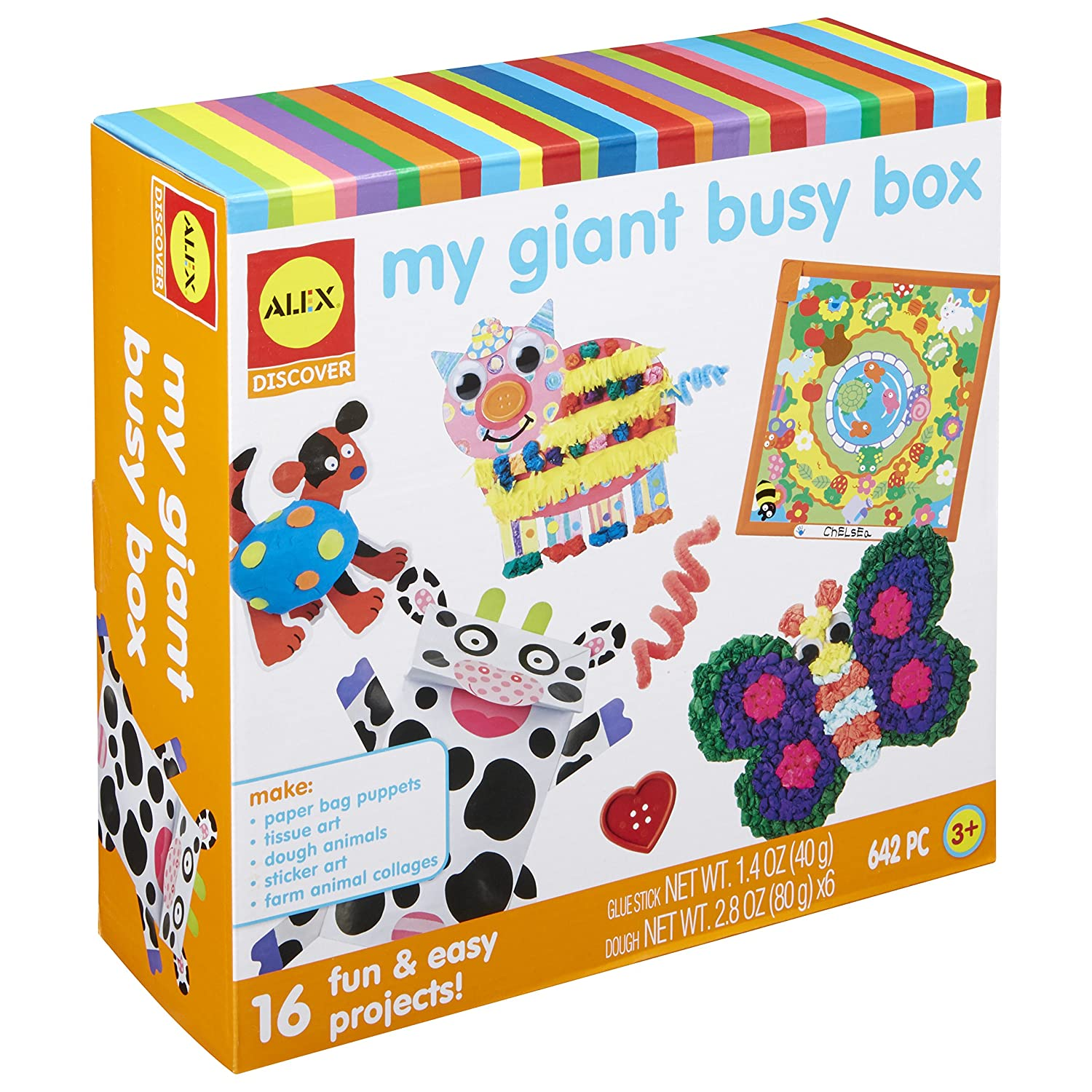 Amazon com alex discover my giant busy box craft kit toys games