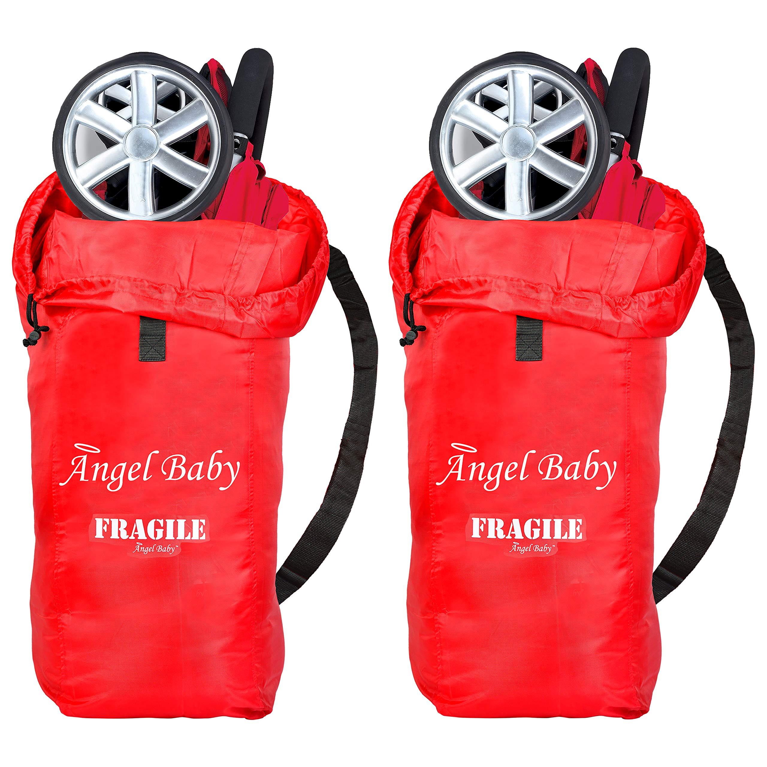 Angel Baby Stroller Travel Bag for Airplane 2pk: Stroller Gate Check Bag Cover