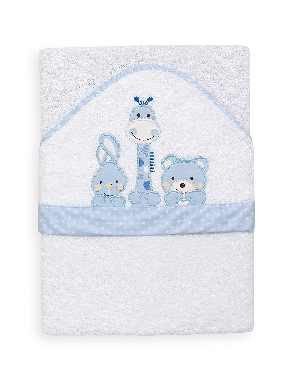 color blanco y azul Toalla infantil 1/x/1 m INTERBABY 01063-11 Friends