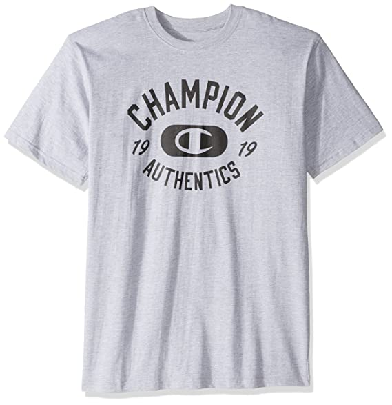 Champion Men's Big and Tall Screen Print Tee 'Authentic 1919